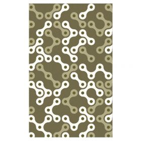 Links Area Rug - Sable/White