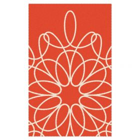 Ribbon Area Rug - Red/White