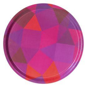 Prismatic Non-Slip Tray - Pink/Orange