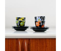 MENO Espresso Cup/Saucer - 'Crevel' Orange