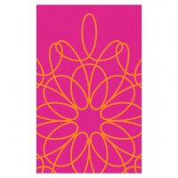 Ribbon Area Rug - Pink/Orange
