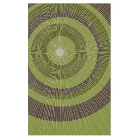 Eccentric Area Rug - Green/Sable