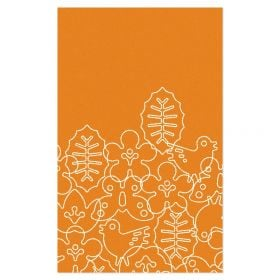 Season Area Rug - Persimmon Orange/White