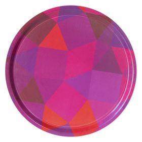 Prismatic Non-Slip Tray - Pink/Orange