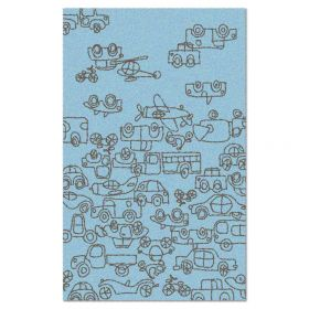 Transport Area Rug - Blue/Sable