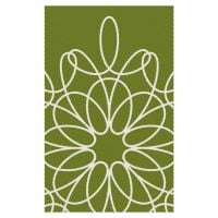 Ribbon Area Rug - Green/White