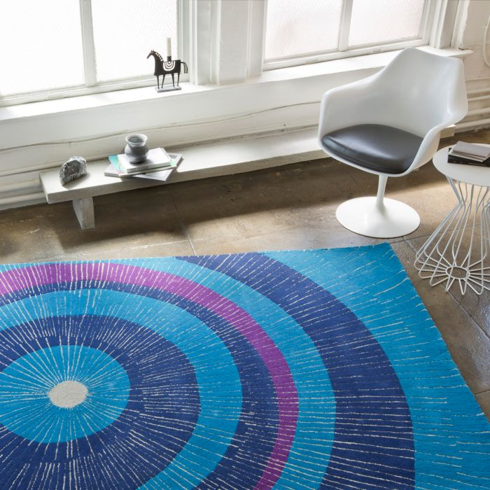 Eccentric Area Rug Bluepurple