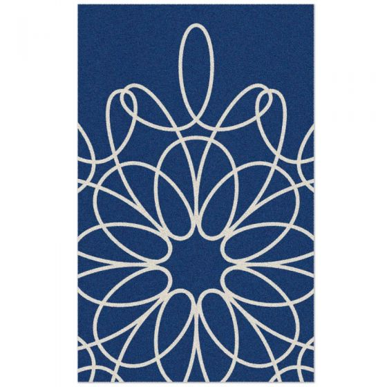 Ribbon Area Rug   Blue/White. Be The First To Review This Product